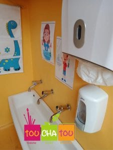 Un espace hygiène adapté aux petits