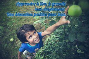 Un enfant tend la main vers un fruit