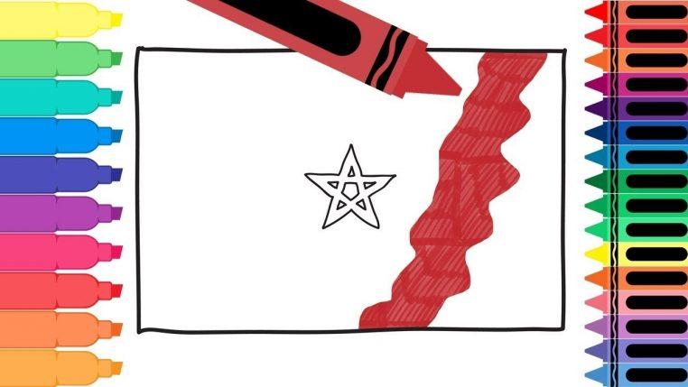 Comment dessiner un drapeau marocain